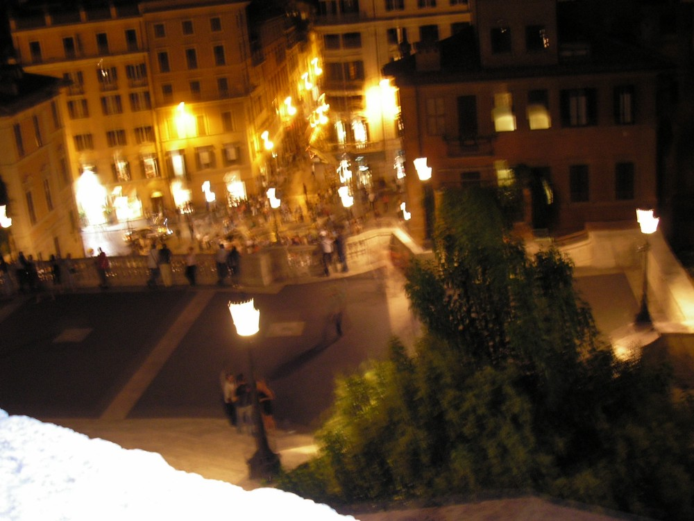 Spanish Steps at night.